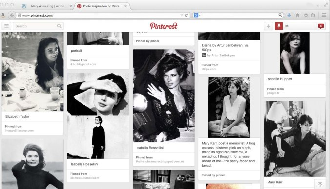 my pinterest photo inspiration board.